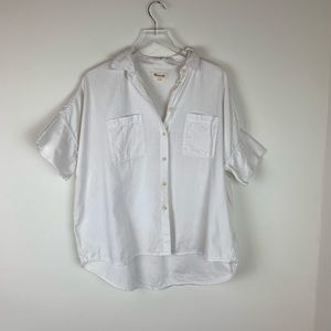 Madewell Short Sleeve Button Down White